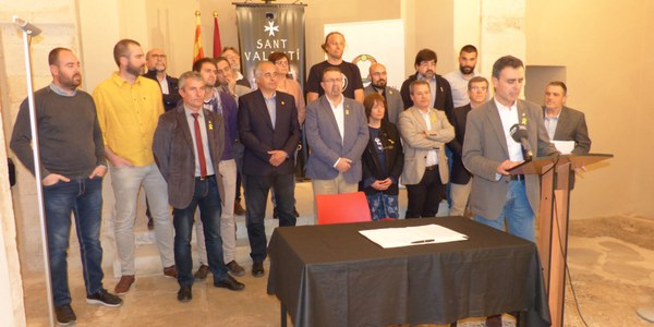 DECLARACIÓ DELS ALCALDES I LES ALCALDESSES DE L'ALT PENEDÈS EN DEFENSA DELS PRINCIPIS DEMOCRÀTIS I DELS DRETS CIVILS I POLÍTICS