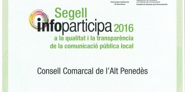 EL CONSELL COMARCAL DE L'ALT PENEDÈS, EL MÉS TRANSPARENT DE CATALUNYA