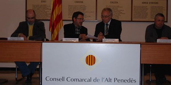 El Consell Comarcal de l'Alt Penedès i la Diputació de Barcelona signen un conveni per a la redacció de l'Agenda 21 Supramunicipal