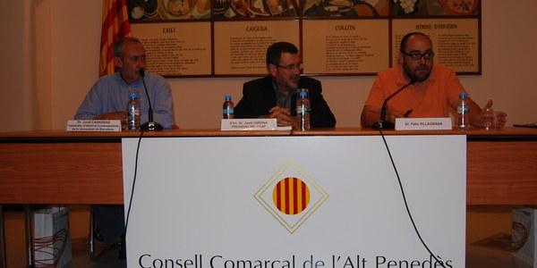 Fèlix Villagrasa va presentar el seu estudi sobre Llorens i Barba al Consell Comarcal