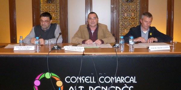 FRANCESC OLIVELLA ES VA ACOMIADAR EN EL DARRER PLE DEL CONSELL COMARCAL