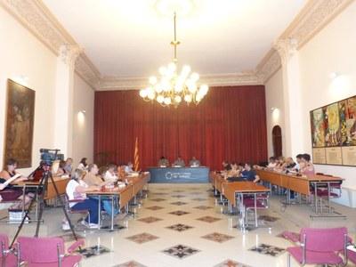 Ple del cartipàs al Consell Comarcal de l'Alt Penedès