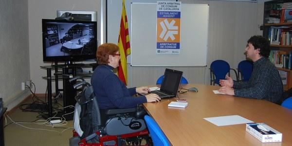 El Consell Comarcal de l'Alt Penedès celebra les primeres vistes arbitrals de Consum mitjançant videoconferència
