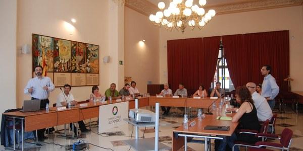 Una delegació d'alcaldes i tècnics xilens visita l 'Alt Penedès
