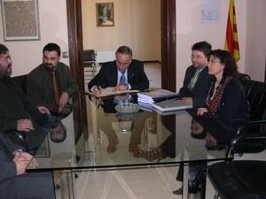 Visita del Conseller de Governació i Administracions Públiques de la Generalitat de Catalunya