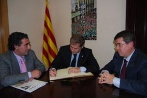 Visita del Vicepresident de la Diputació de Barcelona