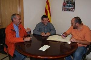 Visita de l'autor de la Tesi sobre Llorens i Barba, Fèlix Villagrasa