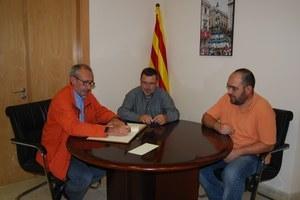 Visita de Jordi Cassasas Director de la tesi sobre Francesc Xavier Llorens i Barba, de Fèlix Villagrassa