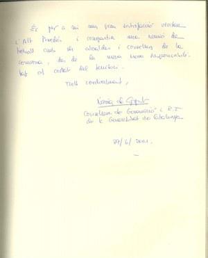 Visita de la Consellera de Governació i R.I de la Generalitat de Catalunya