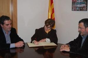 Visita de la Consellera de Treball de la Generalitat de Catalunya