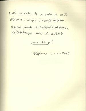 Visita de la Delegada Territorial del Govern de la Generalitat