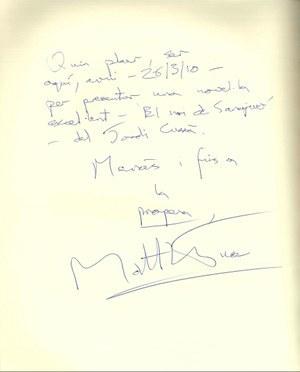 Visita de l'escriptor Mathew Tree