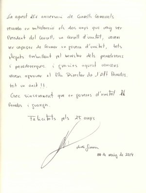 Visita de l'expresident del Consell Comarcal Jordi Girona