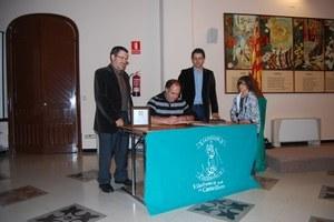 Visita del Cap de Colla Castellers de Vilafranca