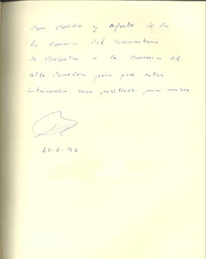 Visita del President de la Mancomunitat del Somontano