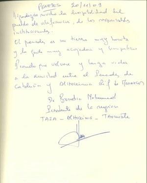 Visita del President de la Regió d'Al hoceïma - taza - Taounate