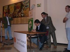 Visita del President dels Castellers de Vilafranca