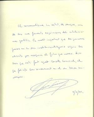 Visita President del Parlament de Catalunya