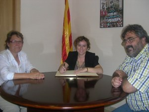 Visita Presidenta de l'Institut Català de les Dones